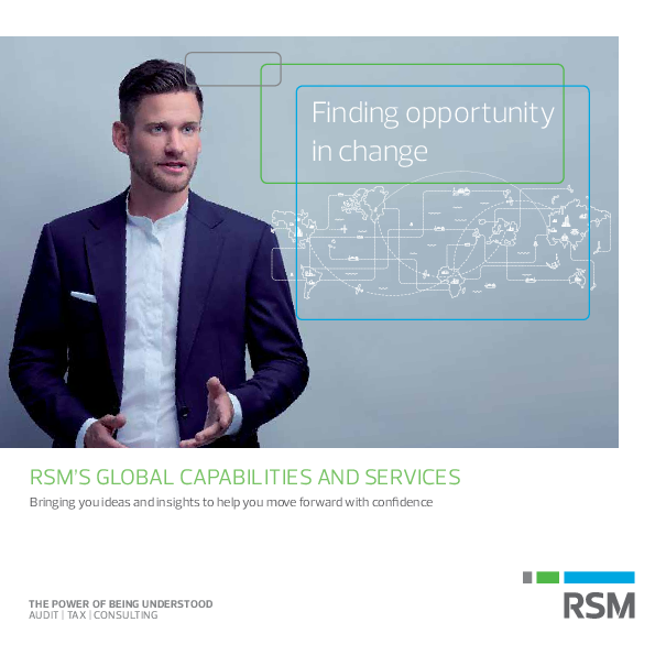 RSM's Global Capabilities and Services